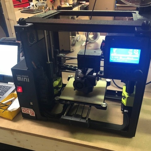 Free 3d model Printed Solid Lulzbot Mini Enclosure Bracket for LCD, PrintedSolid