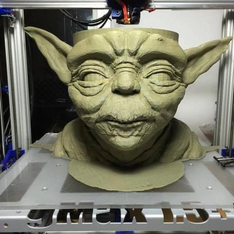Free stl Yoda Bowl, PrintedSolid