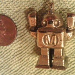 Download free 3D printer designs Make Robot with Keychain/Necklace Ring, PrintedSolid