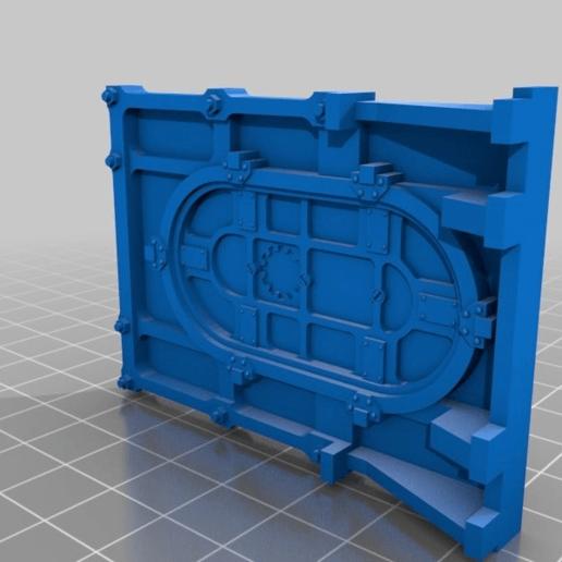 7521c52594adc115b76dd439a79739d8.png Download free STL file 28mm Wargame Sci-fi door • 3D printable model, noodledenis