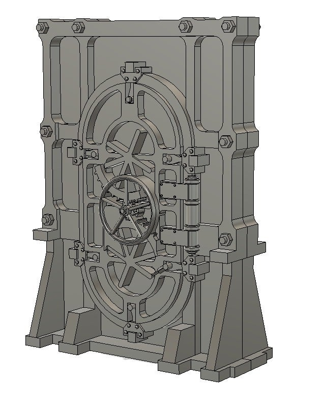 door1.png Download free STL file 28mm Wargame Sci-fi door • 3D printable model, noodledenis