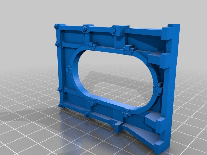 3a65398d6ec8f07a63113c51e1cdc2a2.png Download free STL file 28mm Wargame Sci-fi door • 3D printable model, noodledenis