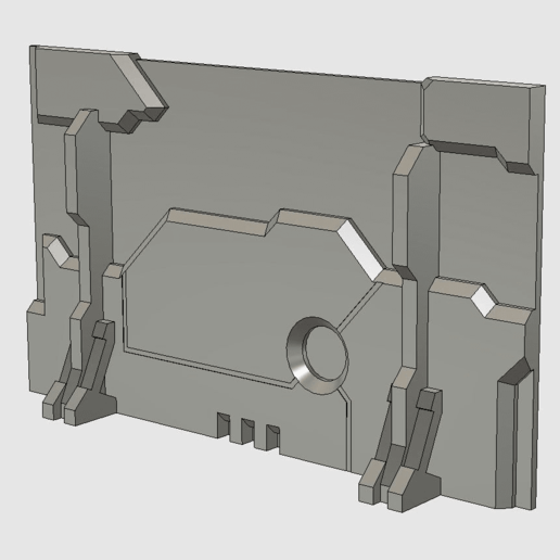 wall.png Download free STL file Sci-fi wall (28 mm) • 3D printing template, noodledenis