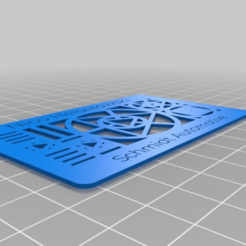Download free 3D printing files My Customized Thingiverse's custom business card, nheiserowski