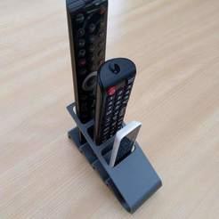 Download STL file Design TV remote control holder, markdebacker
