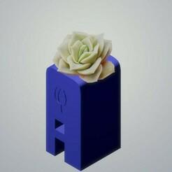 A flower.jpg Download STL file Alphabet Vase 2 • Template to 3D print, marlonjohn21