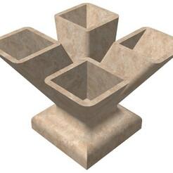 Vase 4 Bocas.jpg Download STL file Vase for Succulent plant • 3D print object, marlonjohn21