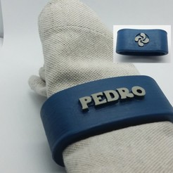 STL files PEDRO napkin box personalized with lauburu, dmitxe