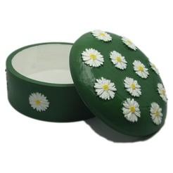 joyero-margaritas-abierto-verde-01.jpg Télécharger fichier STL Boîte à bijoux avec marguerites en relief • Modèle pour impression 3D, dmitxe
