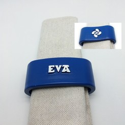 STL EVA napkin box personalized with lauburu, dmitxe