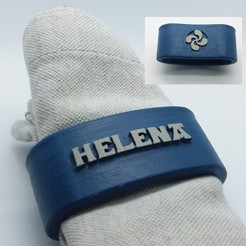 3D printing model HELENA napkin box personalized with lauburu, dmitxe