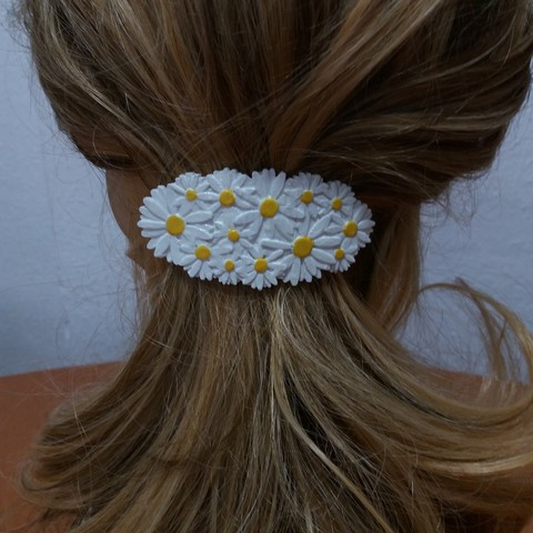 3D printing model Hair Hook with Daisies 60-76, dmitxe