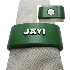 STL JAVI napkin box personalized with daisy, dmitxe