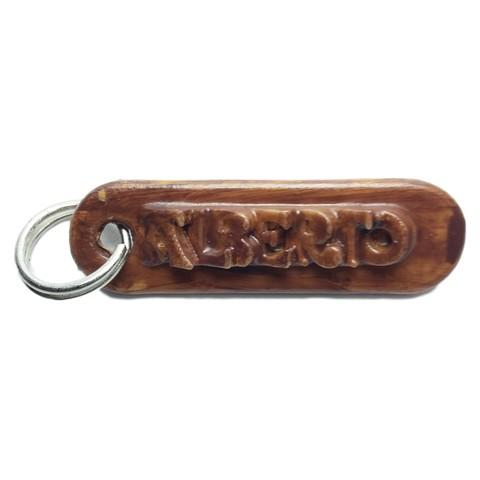 Personalized ALBERTO key ring