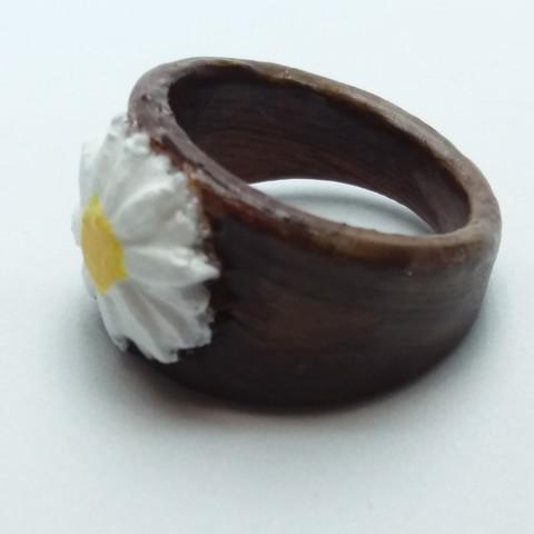 3D print model Ring with inlaid Margarita, dmitxe