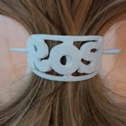 3D printer files Hair clip with custom ROSI oval stick 54x30, dmitxe