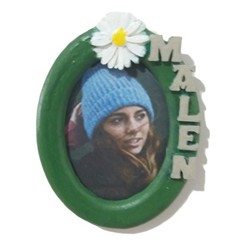 Pf_oval-iman-margymalen-verde.jpg Download STL file MALEN oval Photo Holder 30X40 with daisy • 3D printable design, dmitxe