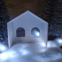 Download free STL file native christmas crib • 3D printer model, maxence1745