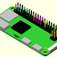 Revised_PiZero.PNG Download free SCAD file Raspberry Pi Zero model • 3D print model, MisterC