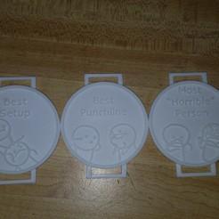 IMG_20190101_161755.jpg Télécharger fichier STL gratuit Médailles des risques de plaisanterie • Plan pour imprimante 3D, Tyrinie12
