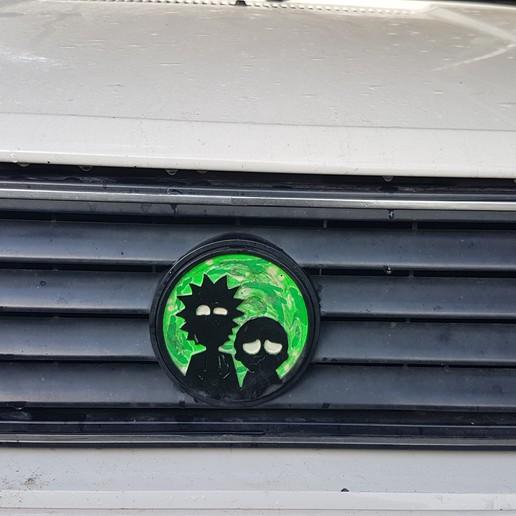 Download 3D model Rick and Morty VW front logo., Dredd