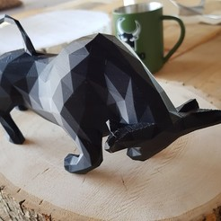 Download 3D printer designs Low-Poly Charging Bull, ElwinAlvarado