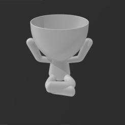 Hear_No_Evil.PNG Download STL file Three wise Robert planters Hear no Evil) • 3D printing object, Elwin_Alvarado