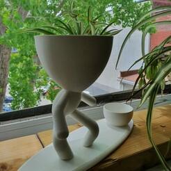 20200609_133810.jpg Download STL file Robert Surfer - Surfer Planter - Doble Planter - Summer Planter - La pura vida • 3D printing model, EstudioAditivo