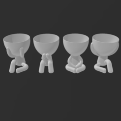 All_.PNG Download STL file Bundle 02 - Robert planters - Little People Planters • 3D printing object, Elwin_Alvarado