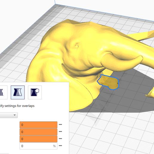 Cura_Cut.PNG Télécharger fichier 3MF Trophée de l'éléphant polyvalent moitié-moitié • Modèle pour impression 3D, Elwin_Alvarado