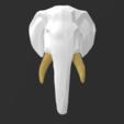 07_White_Gold.PNG Télécharger fichier 3MF Trophée de l'éléphant polyvalent moitié-moitié • Modèle pour impression 3D, Elwin_Alvarado
