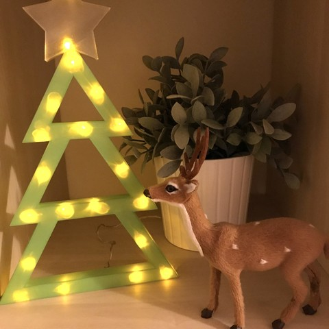 Download free 3D print files Christmas Tree with LED lights, gaevskii