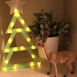 Free 3D printer model Christmas Tree with LED lights, gaevskii