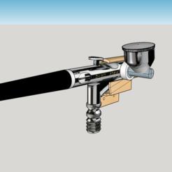 Descargar archivos 3D Porta aerógrafo, 3drot