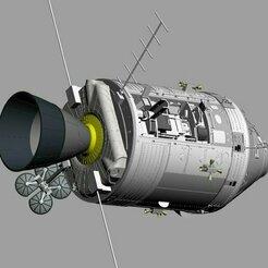Apollo 17 in lunar orbit.jpg Download STL file Apollo Command & Service module • 3D printer template, vincentmeens
