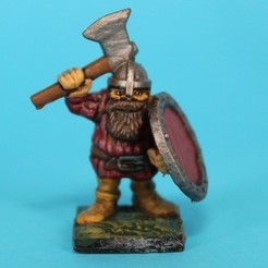 3d print files Dwarf with axe, EvilHippie