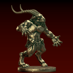 Download free 3D print files Horned One, EvilHippie