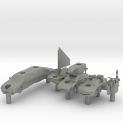 3d printer files Team May Top Gear Battleship set, elhuff