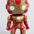 3D printing model Iron Man Funko Pop Bubble Head with Base, TridyPrints