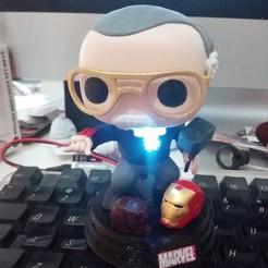 STL Stan Lee Funko LED Edition Marvel Marvel, MaistroConstructor