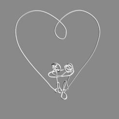 lover's-sculpture.png Download free STL file sculpture heart • 3D printable model, sinde