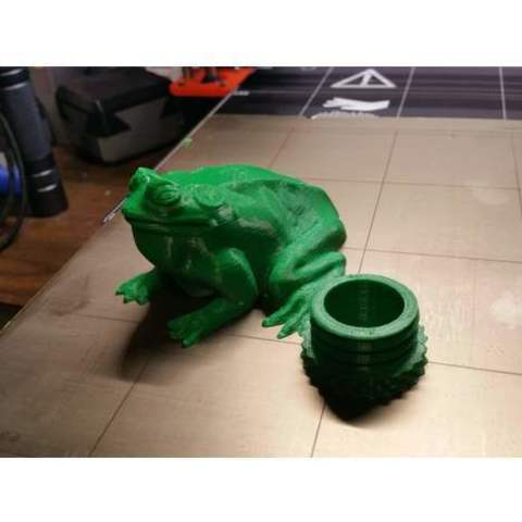 Download free 3D printer designs Frog Geocache, cultscnlson