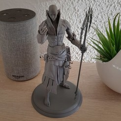 Free STL Dark Elf, CreatureClawMiniatures