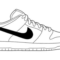 SB-Dunk-Low.png Télécharger fichier STL Nike Dunk • Plan pour imprimante 3D, gaspex
