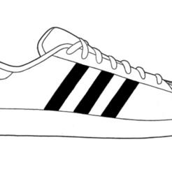 Adidas Superstar.png Télécharger fichier STL Adidas Superstar • Objet à imprimer en 3D, gaspex