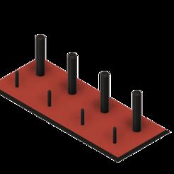porte bobinnes et canettes v3.png Télécharger fichier STL gratuit porte Bobines et Canettes • Objet pour impression 3D, haenelmarechal