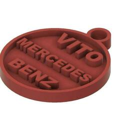 porte clé vito v4.jpg Download free STL file key ring Vito Mercedes • 3D printable model, haenelmarechal