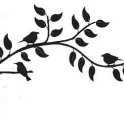 Download free 3D print files Branch with birds, ecarrillortiz