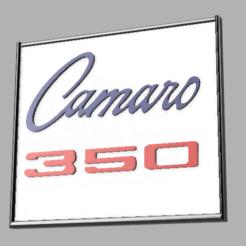 camaro ss.png Download free STL file 1968 SS Camaro Emblem Plaque  • 3D printing design, mkosmider