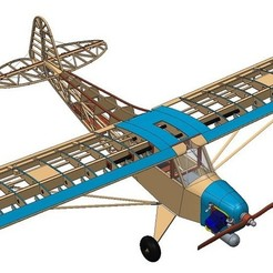 Download free 3D printer files Large Scale Piper Cub RC aircraft , mkosmider